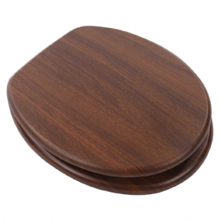 Arley Walnut Willow Wood Effect MDF Quick Release Easy Clean Toilet Seat - 237206WN